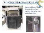 croatian pre romanesque art