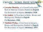 croats nobel prize winners