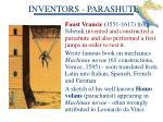 inventors parashute