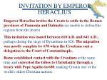 invitation by emperor
