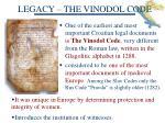 legacy the vinodol code