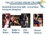 nba players from croatia