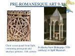 pre romanesque art 9 11c