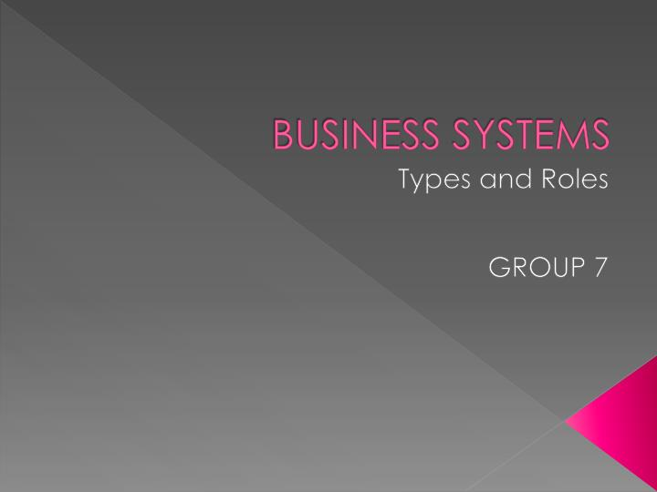 business systems n.