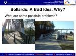 bollards a bad idea why
