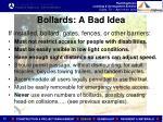 bollards a bad idea1