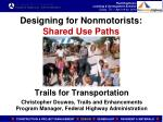 designing for nonmotorists shared use paths