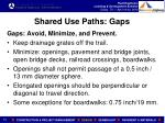 shared use paths gaps