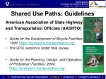 shared use paths guidelines
