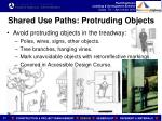 shared use paths protruding objects
