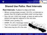 shared use paths rest intervals
