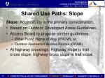 shared use paths slope