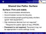 shared use paths surface