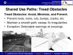 shared use paths tread obstacles