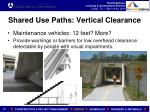shared use paths vertical clearance1