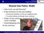 shared use paths width