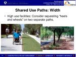 shared use paths width1