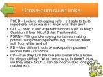 cross curricular links