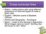 cross curricular links2