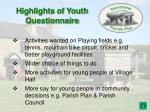 highlights of youth questionnaire1