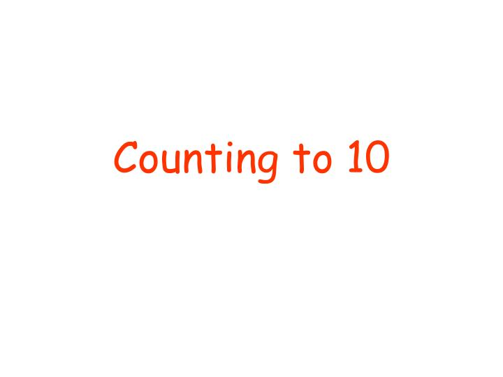 counting to 10 n.
