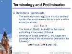 terminology and preliminaries1