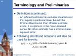 terminology and preliminaries4