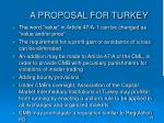 a proposal for turkey