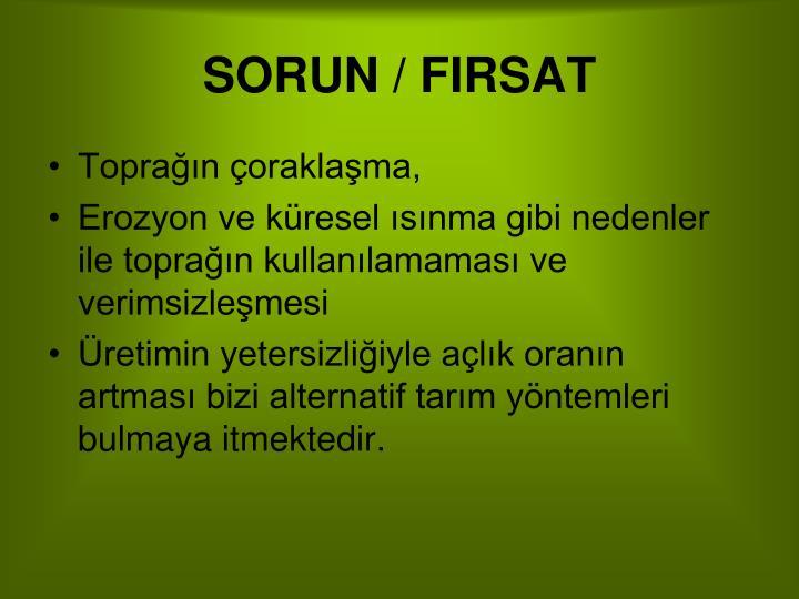SORUN / FIRSAT