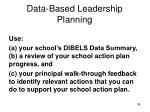 data based leadership planning