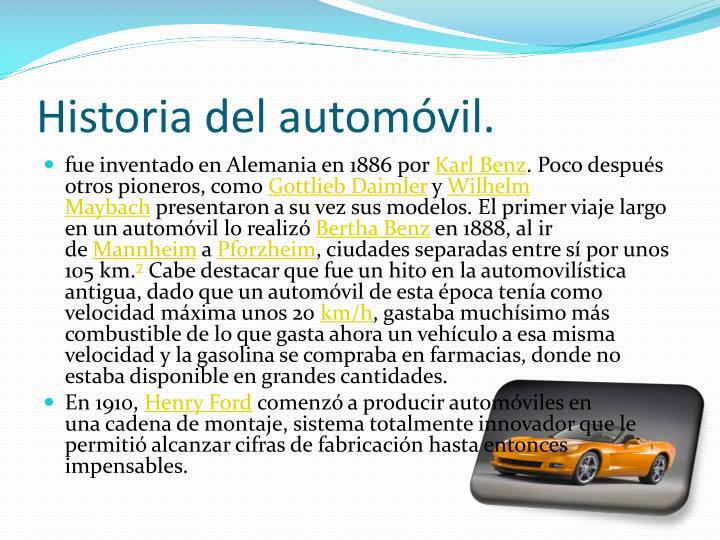 Historia del autom vil