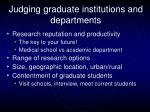 judging graduate institutions and departments2