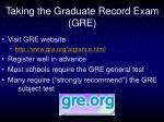 taking the graduate record exam gre