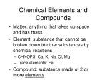 chemical elements and compounds