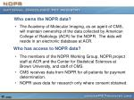 who owns the nopr data