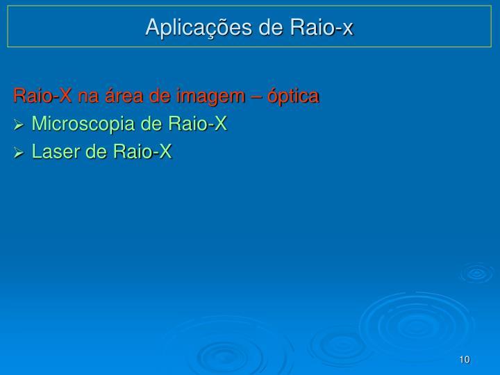 Aplicações de Raio-x