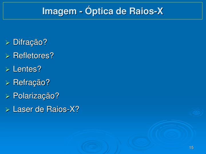 Imagem - Óptica de Raios-X