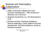 business and intermediary collaborations