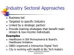 industry sectoral approaches