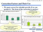 correction factors and their use1