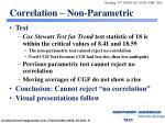 correlation non parametric