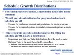 schedule growth distributions