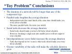 toy problem conclusions