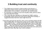 3 building trust and continuity