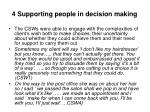 4 supporting people in decision making