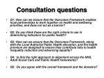 consultation questions