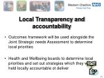 local transparency and accountability