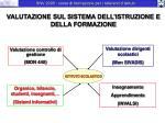 valutazione sul sistema dell istruzione e della formazione