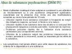 abus de substances psychoactives dsm iv