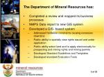 the department of mineral resources has
